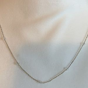 Beautiful Minimalist Clear Bead Necklace